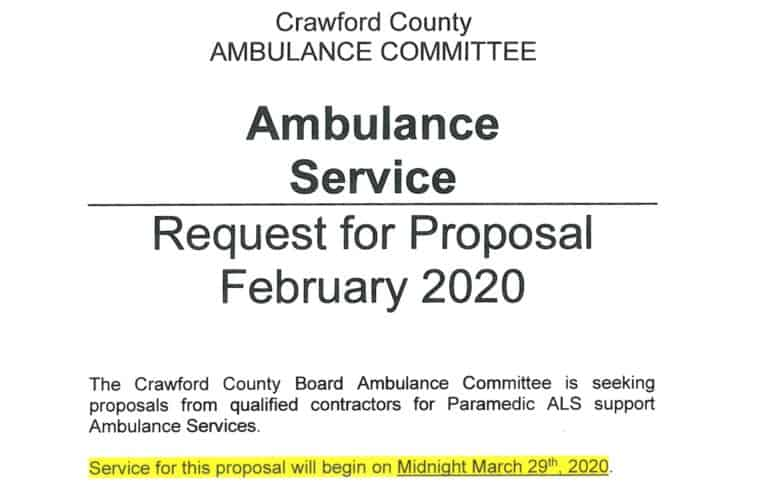 Revised Ambulance Bid Packet
